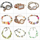 [HANABE KOREA] High Quality Handmade Korean Fashion Crystal Pearl Natural Stone Gift Present Watch Wrist Bracelet/MADE IN KOREA