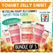 Bundle of 5 Best Selling Korea 7-Eleven Yogurt Jelly Sweet - 2 Flavour