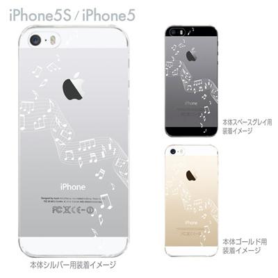 【iPhone5S】【iPhone5】【Clear Arts】【iPhone5ケース】【カバー】【スマホケース】【クリアケース】【音符】 ip5-09-mu0002の画像