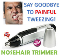 [2016 Mens Trend] Battery Operated Electric Nose Hair Trimmer * Nose Hair Shaver * Fast Rotation * Easy Removal * - As Seen on TV [TVADS TV-ADS]