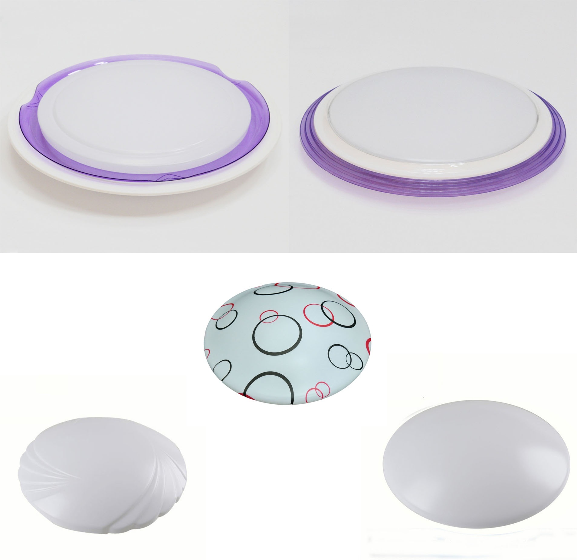 Ceiling Light Cover Only : Qoo led cover and base ceiling light