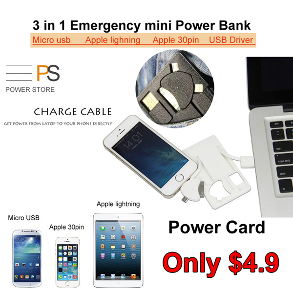 Premium Powerbank Portable Battery Power Card Charge Travel Power Bank Card USB Drive Gift Deals for only S$30 instead of S$0