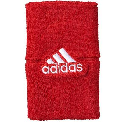 アディダス(adidas) ワイドリストバンド ライトスカーレット/ホワイト DDX36 F93205 【スポーツアクセサリー ウェア バンド メンズ レディース】の画像