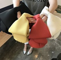 INS超人気 RIBBON BAG 超可愛い蝶結び手取りバッグ メモリーフォームハンドバッグ/韓国ファッション/バッグ/リュック