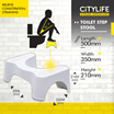 CITYLIFE STORAGE INSPIRATION - TOILET STEP STOOL ★RELIEFS CONSTIPATION★EASY MOTION★