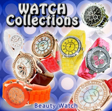 Beauty Watch with Crystal / Watch Stand / Watch Battery / Watch Suitcase