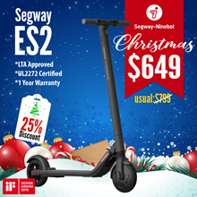 🎄Christmas Sale🎄Segway ES2 Escooter | LTA Approved ✅ | OFFICIAL DISTRIBUTOR 💯 | UL2272 ✅