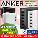 ★TOP SG SELLER★ ANKER 2/5/6-Port Multi USB Charger 24W-60W 4.8A-12A Qi Car Charger (18 Mths Warranty 100% AUTHENTIC LOCAL STOCK) Apple/Android/Fast Smart Charge iPhone/iPad/Samsung/Powerbank/Xiaomi/LG