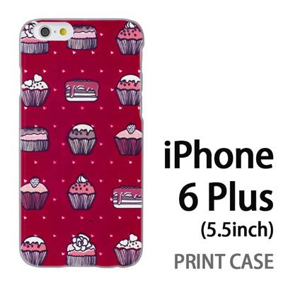 iPhone6 Plus (5.5インチ) 用『0315 スイーツドットハート 赤』特殊印刷ケース【 iphone6 plus iphone アイフォン アイフォン6 プラス au docomo softbank Apple ケース プリント カバー スマホケース スマホカバー 】の画像