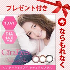 【メール便発送】カラコン 1day Cara Eyes ワンデーキャラアイ ナチュラルプラス 1箱20枚入 度なし/度あり 14.0mm■1DAY カラーコンタクト コスメ