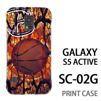 GALAXY S5 Active SC-02G 用『No1 B バスケットボール』特殊印刷ケース【 galaxy s5 active SC-02G sc02g SC02G galaxys5 ギャラクシー ギャラクシーs5 アクティブ docomo ケース プリント カバー スマホケース スマホカバー】の画像