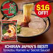 【 ICHIRAN 一蘭 】JAPAN BEST Tonkotsu Ramen ★MADE WITH SECRET SAUCE AND QQ NOODLES★ Too Delicious to Forget ►5 servings
