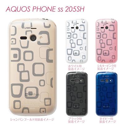 【AQUOS PHONE ss 205SH】【205sh】【Soft Bank】【カバー】【ケース】【スマホケース】【クリアケース】【チェック・ボーダー・ドット】【トランスペアレンツ】【ラフボックス】 06-205sh-ca0021hの画像