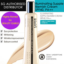 Stay Natural! (SG Authorised Distributor) Highly Raved by Beauty Guru!! Klairs Illuminating Supple Blemish Cream (BB cream) SPF40 PA++ / Creamy and Natural Fit Concealer from Korea