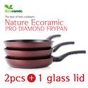◆8/4 Restock Sale◆[2016 NEW!]Made in Korea! ★Pro Diamond Ecoramic Frypan 2pcs + 1pcs glass lid 1SET★ / DIAMOND /FRYPAN /household / KITCHEN WARE/