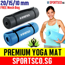 ⌚⚡ Premium Yoga Mat ☘ FREE Bag ☘ NBR TPE 20mm 15mm 10mm ☘ Yoga Towel ☘ Yoga Ball ☘ Yoga Strap ☘ Yoga Wheel ☘Singapore Seller ☘ Fast Shipment ☘
