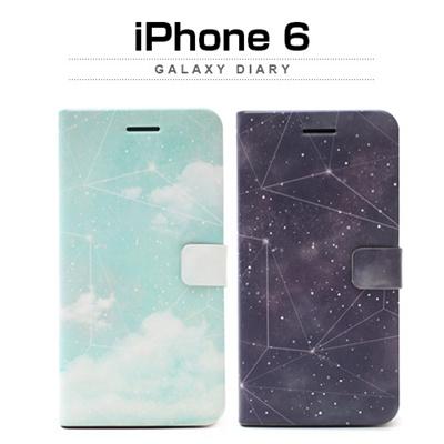 iPhone6カバーアイホン6 アイフォン6ケースiphoneケース アイフォン ブランド iphoneカバーiPhone6用 【iPhone6 4.7インチ】 Happymori Galaxy Diary (ギャラクシーダイアリー)【レビューを書いてメール便送料無料】の画像