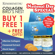 ✦Kinohimitsu Collagen Bird Nest SG52 EXCLUSIVE✦  *LIMITED TIME ONLY* BUY 1 FREE 1 + FREE GIFT