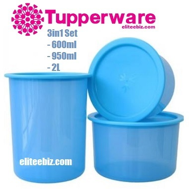 Qoo10 tupperware airtight one touch topper 3in1 set for Qoo10 kitchen set