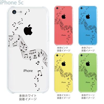 【iPhone5c】【iPhone5c ケース】【iPhone5c カバー】【iPhone カバー】【クリア ケース】【スマホケース】【クリアケース】【イラスト】【ミュージック】【音符】 09-ip5c-mu0001の画像
