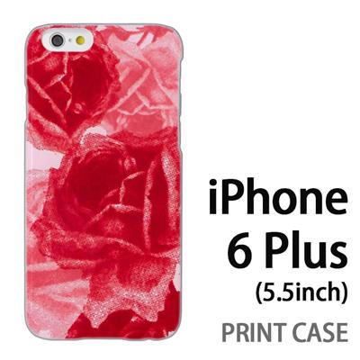 iPhone6 Plus (5.5インチ) 用『0316 擦れバラ ピンク』特殊印刷ケース【 iphone6 plus iphone アイフォン アイフォン6 プラス au docomo softbank Apple ケース プリント カバー スマホケース スマホカバー 】の画像