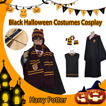 Black Halloween Costumes Cosplay Costume Harry Potter Magic Robe Harry Potter Cloak Harry Potter