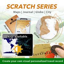 ★Travelogue Scratch Map Travel Journal★DIY Scratch Globe World Map★Adventure Map★Constellation Map★
