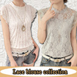 2017 NEW HIGH QUALITY LACE BLOUSE TOP