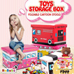 Free Gift【HIGH-QUALITY】TOYS Storage Containers /Cute Foldable Stool/ Cartoon Organiser/Perfect Size