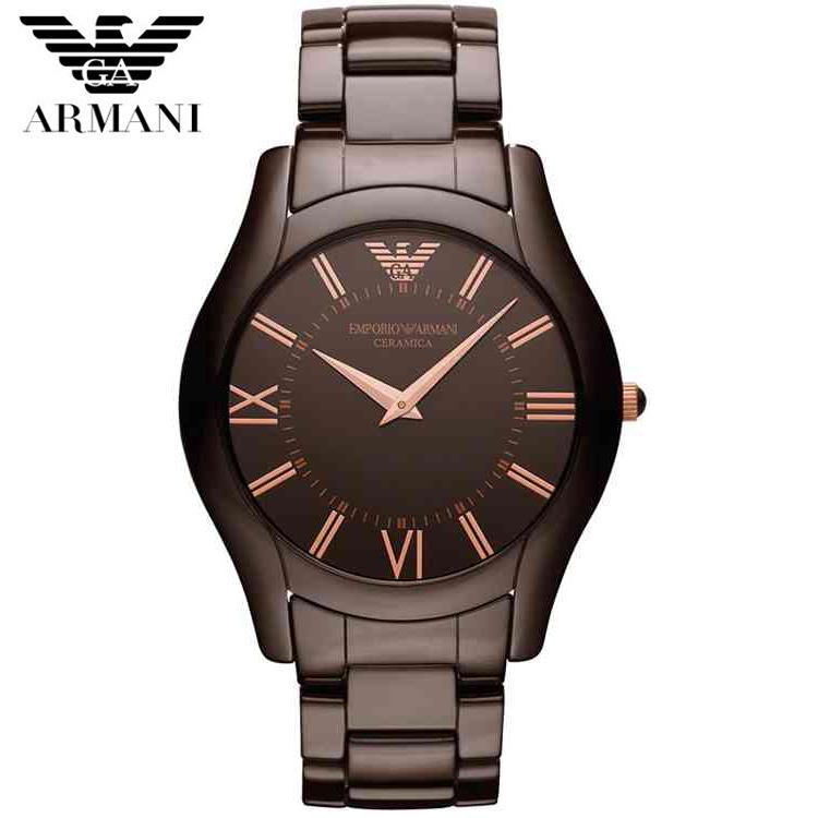 【クリックで詳細表示】EMPORIO ARMANI 腕時計 EA エンポリオ アルマーニ セラミカ AR1444 ブラウン セラミック 新品 超特価 時計 送料無料 正規輸入品
