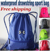 Free shipping!UNDER ARMOUR Waterproof Drawstring Bag/Drawstring pouch/premium quality Unisex Sports bags/sport Backpack/Travel Bag/Shoe Bag/Shoulder Bag/ Soccer bag/ Basketball Bags/Free Shipping