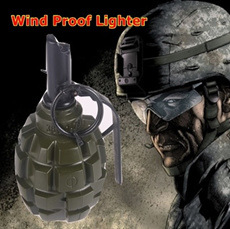 GRENADE WIND PROOF LIGHTER WITH ASH TRAY LIMITED COLLECTION