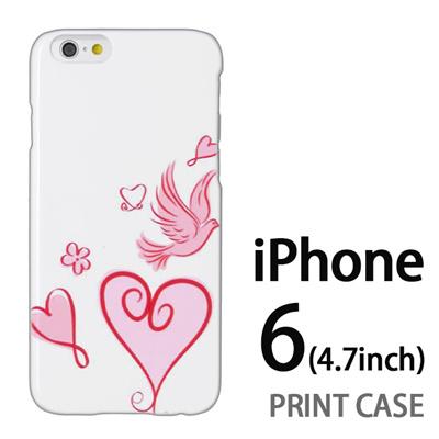 iPhone6 (4.7インチ) 用『0829 かわいいハート 白』特殊印刷ケース【 iphone6 iphone アイフォン アイフォン6 au docomo softbank Apple ケース プリント カバー スマホケース スマホカバー 】の画像