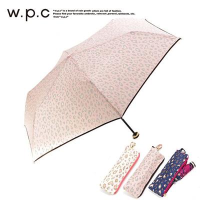ワールドパーティー w.p.c 折りたたみ傘 レオパード ジッパー 368-111の画像