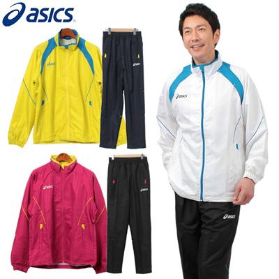 アシックス メンズ ウインドブレーカー ジャケット パンツ 上下セット XAW51K XAW61K セットアップ ジャージ トレーニングウェア 男性用の画像