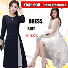 【2/12promotion】 Korean style dress/Long sleeve Dress/Sleeveless Short sleeve/OL/Occupation Casual Dress/Little girl/Work Office Dress/Pop/ fashion/high quality/Suit