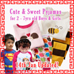19 Aug Updated Promotion! Cute and Sweet Children/Kids Pyjamas sleepwear long sleeve soft comfy and nice pajamas/long pants/ children clothes/long sleeve/long pants/kids clothes/clothing
