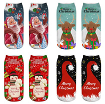 【BUY 6 FREE SHIPPING】2018 new ARRIVAL  xsmas  Christmas sock 3D socks