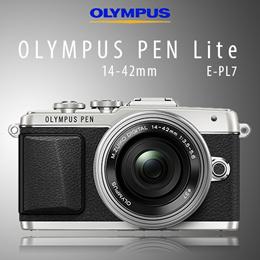 OLYMPUS PEN Lite E-PL7 14-42mm EZレンズキット [シルバー] 自分撮りとスマホ連携を強化したミラーレス一眼カメラ