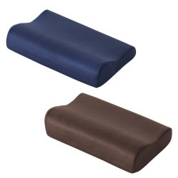 AirReve (エアーレーブ) ピロー (ネイビー・ブラウン 3段調整)枕 まくら 寝姿勢に無駄がない首に優しいラウンド形状のピローの画像