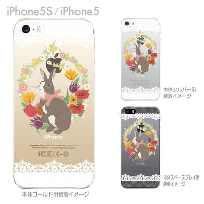 【iPhone5S】【iPhone5】【iPhone5sケース】【iPhone5ケース】【カバー】【スマホケース】【クリアケース】【クリアーアーツ】【うさぎ】 09-ip5s-ca0031の画像
