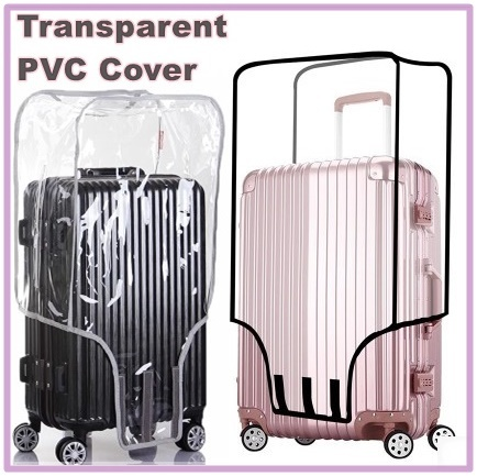 Transparent PVC Luggage Cover|Waterproof Case Protector|20 to 30 Inch|Local Delivery Deals for only S$29.9 instead of S$0