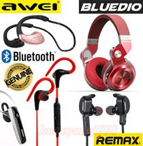 BLUEDIO H+ T2+ Wireless Bluetooth Headset Headphone ★ Remax RB-S2 S5 Earpierce★Awei A885BL Earphone