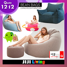 12/12 **60 OFF 12** BEANBAGS! Sofa Premium Bean Bag Chair Soft Cushioning Bedding