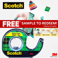 [Official E-store] Scotch Magic Tape FREE Sample Pack / 19mm x 4m / SG50 Jubilee Promo / Trial / 3M / Shipping Applies / Sticky Tape