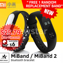 Xiaomi MiBand1 | MiBand 2(NEW!) ~ Bluetooth bracelet [100% Authentic]★SG Seller★ CHEAPEST ON Qoo10!