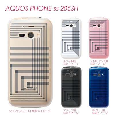 【AQUOS PHONE ss 205SH】【205sh】【Soft Bank】【カバー】【ケース】【スマホケース】【クリアケース】【チェック・ボーダー・ドット】【トランスペアレンツ】【アングル】 06-205sh-ca0021rの画像