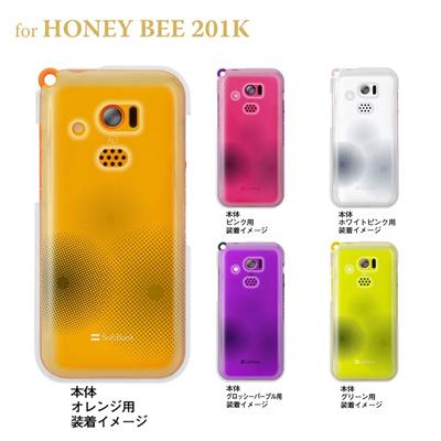 【HONEY BEE ケース】【201K】【Soft Bank】【カバー】【スマホケース】【クリアケース】【トランスペアレンツ】【ドット】 06-201k-ca0021nの画像