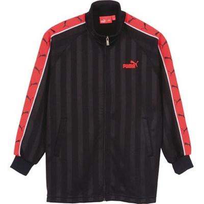 プーマ(PUMA) トレーニング ジャケット 900315 01 ブラック/レッド【ジュニア キッズ トレーニングウェア ジャージ】の画像