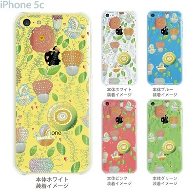 【iPhone5c】【iPhone5cケース】【iPhone5cカバー】【ケース】【カバー】【スマホケース】【クリアケース】【フラワー】【vuodenaika】 21-ip5c-ne0015caの画像